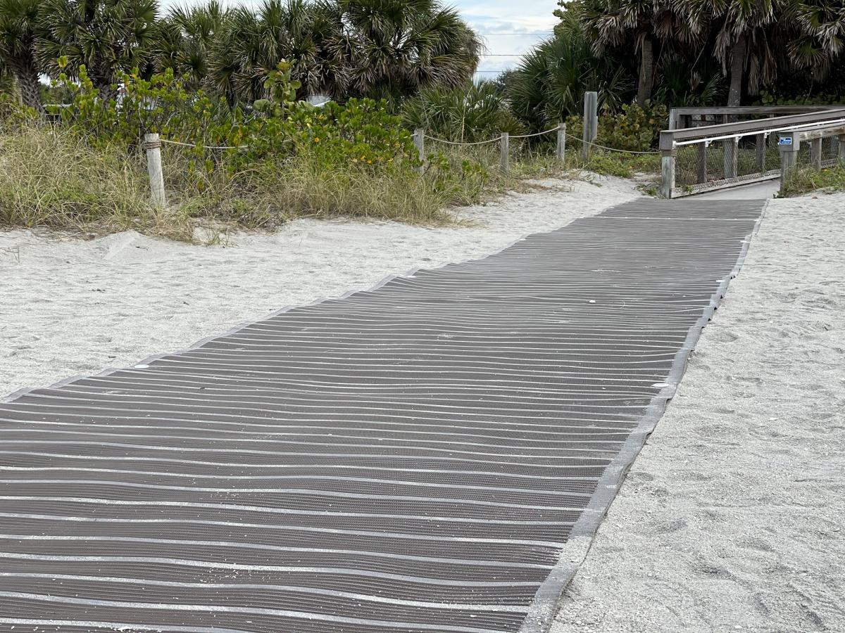 ADA mobility mat at Venice Beach