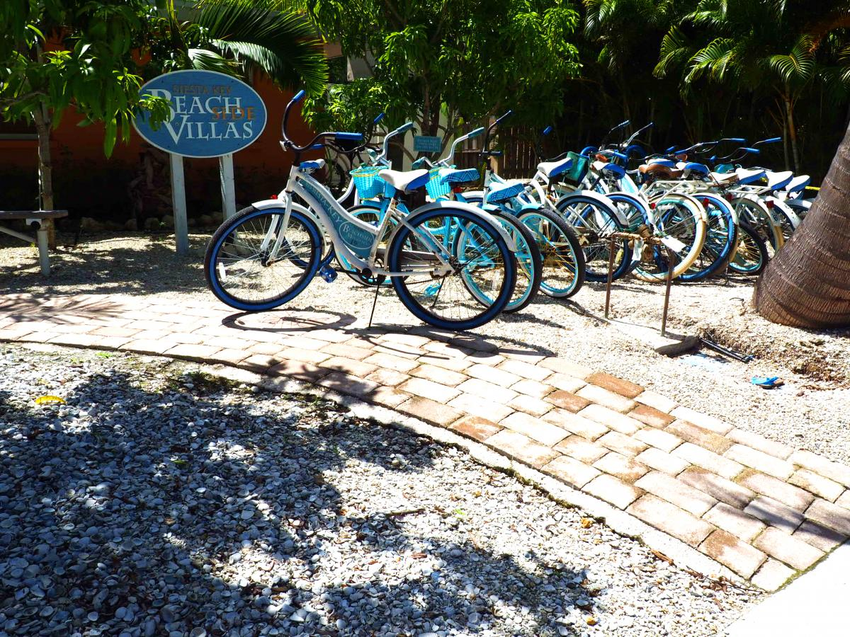 bikes at a hotel on siesta key in florida