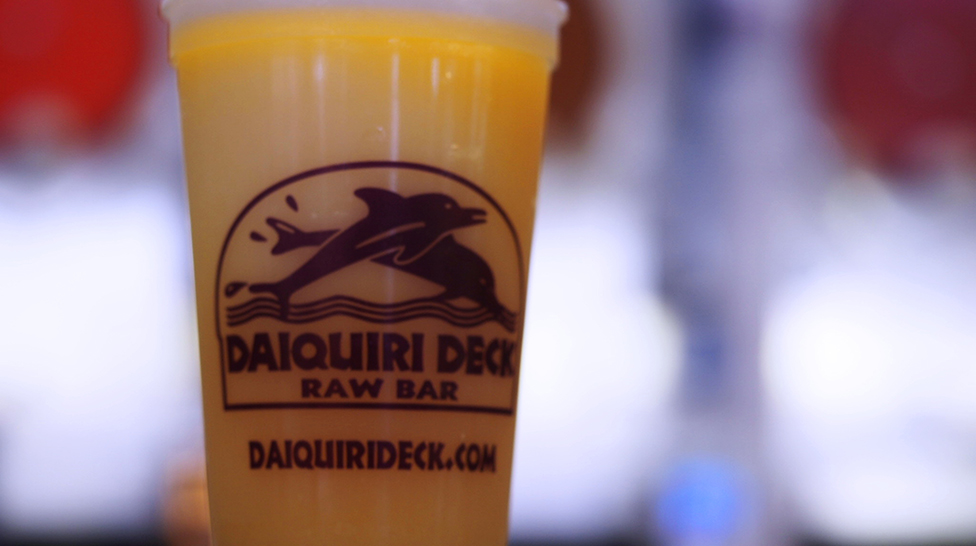Frozen beverages await at Daiquiri Deck (Photo: Lauren Jackson)
