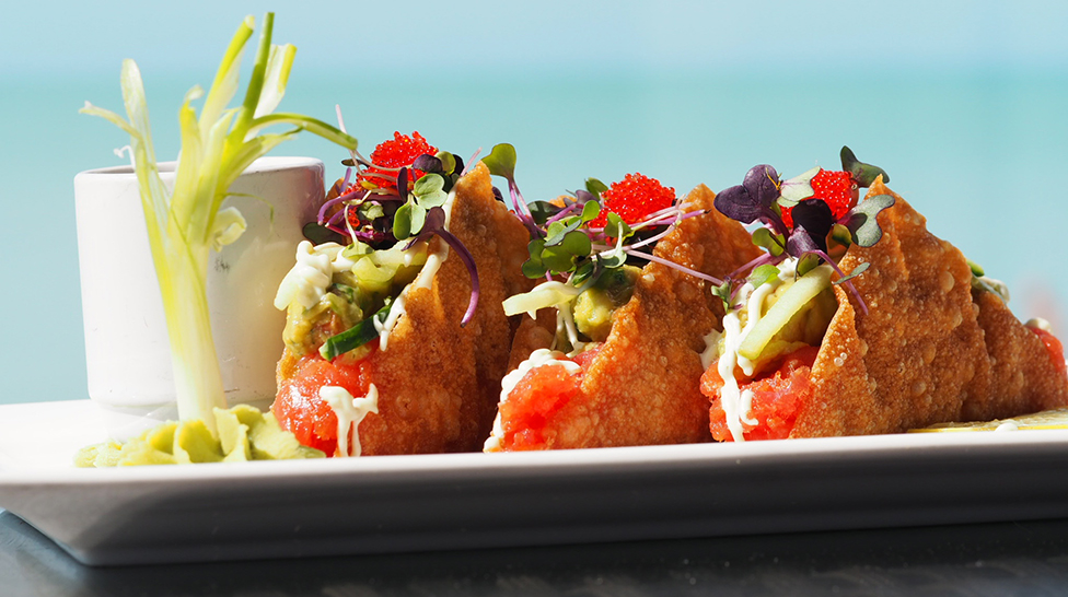 Tuna tacos from Fins at Sharky's (Photo: Lauren Jackson)
