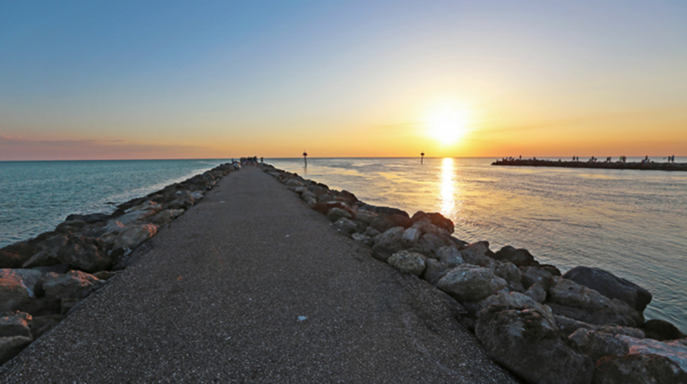 A sunset view from the south end of the Venice Jetty could be the perfect end to your day