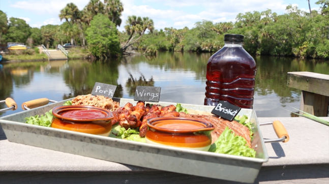 bbq from snook haven on the myakka river