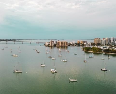 aerial view of downtown sarasota