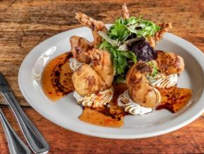 Shrimp Rangoon, offered as part of the Savor Sarasota dinner menu at Mattison's City Grille