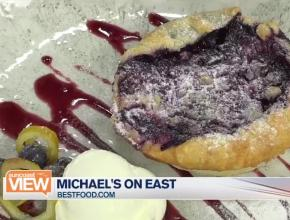 Blueberry dessert from Michael's On East