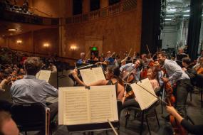 orchestra musicians playing for audience in sarasota florida