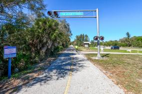 bike trail and sign for legacy trail