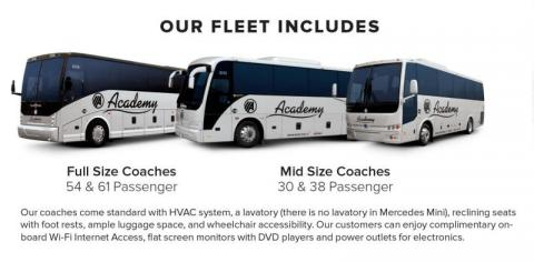 Our Fleet Includes