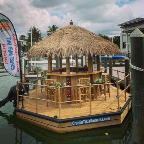 Tiki Time - Siesta Tiki 1 is all cleaned up and ready to go for the next FUN tour!!