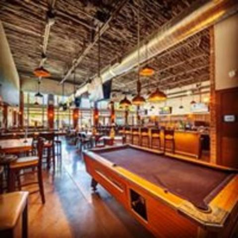 "Pool Table - Enjoy a game of pool while watching your favorite team on our 120"" projector"