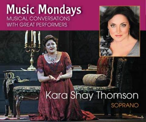 """Kara Shay Thomson - Kara Shay Thomson, soprano Sarasota Opera audiences have raved about Kara Shay Thomsons's performances in """"Tosca"""", """"Fidelio"""" and """"Tiefland"""" join us for a conversation and performance on January 14th."""