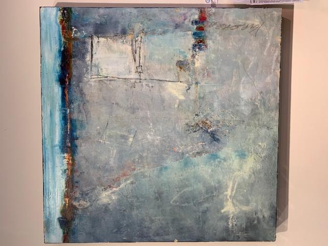 abstract paintings by local artist Jill Krasner
