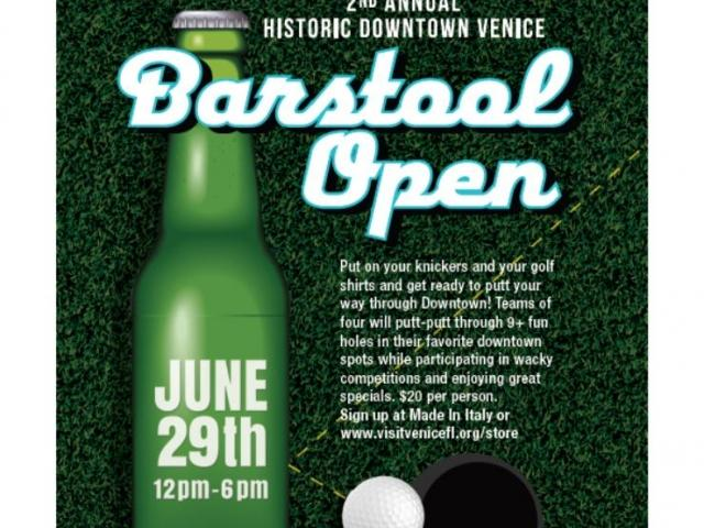 2nd Annual Historic Downtown Venice Barstool Open, June 29, 2019
