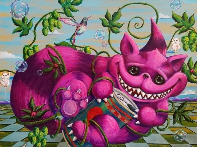 """We're All Mad Here"" by painter Nelson Perez"