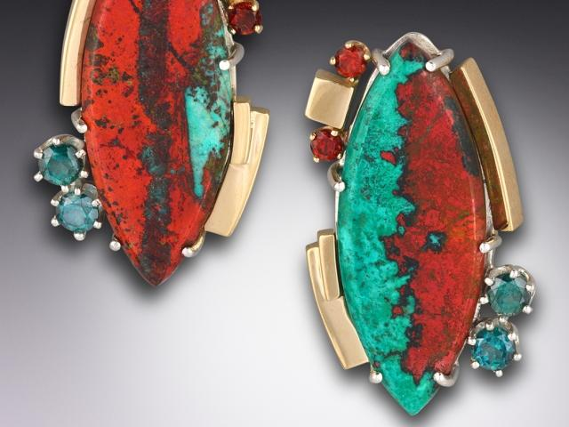 Earrings by jeweler Joan Michlin