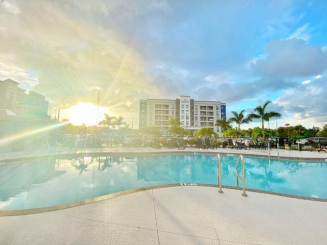 Sunrise at the pool - Sunrise at the pool