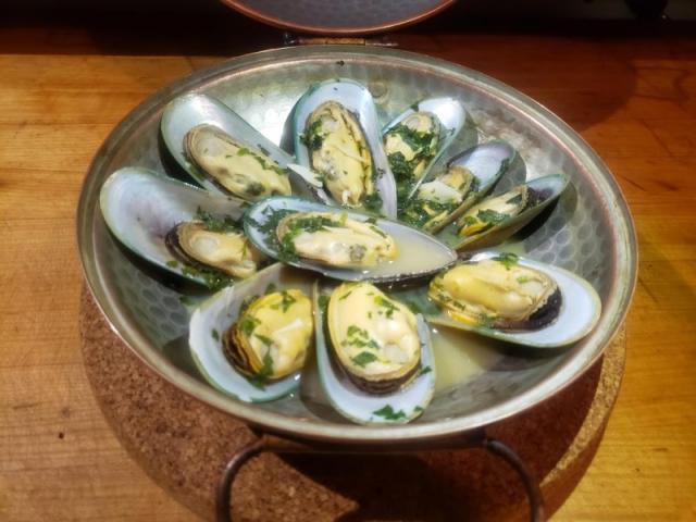 Mussels Cataplana - Mussels Cataplana in crab, shrimp & lobster broth.