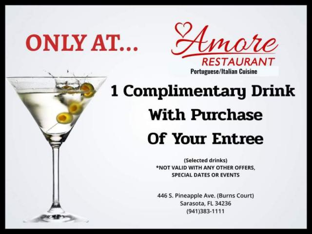 Drink with purchase