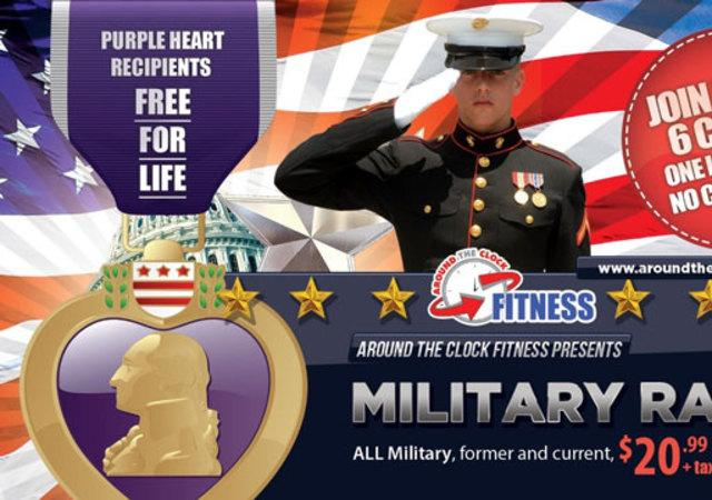 Military Discounts - Around The Clock Fitness - ATC Fitness Honors our Military with a Discounted Rate! Stop in for your FREE tour and FREE 3-day pass Today!