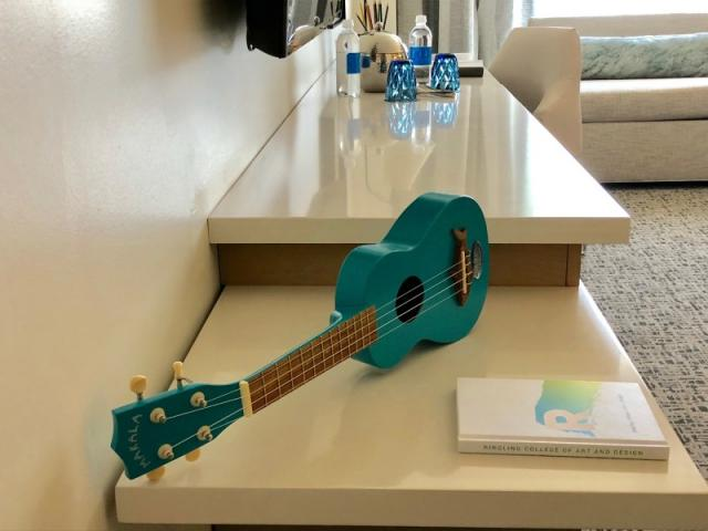 Ukulele - Guests at the Art Ovation Hotel will find ukulele's in their room.
