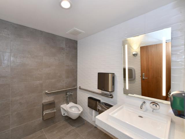 """John Chidsey"" Bayfront Community Center - Interior of restroom"