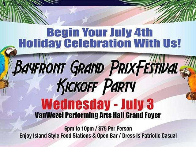 """RED, WHITE & YOU"" BAYFRONT KICKOFF PARTY - July 3rd, 2019"