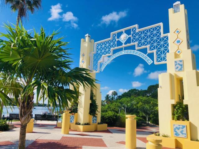 Bayfront Park Entrance
