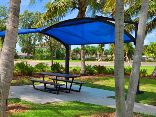 Bird Key Park - One of two picnic pavilions.