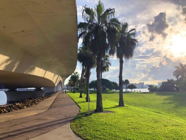 Bird Key Park - Walking path continues from the entrance under the John Ringling Causeway.