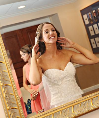 Getting Ready - With various rooms available in addition to the ceremony and reception space, your bridal party will have ease of getting hair and make-up done all in one location, in addition to your personalized pre-wedding traditions.