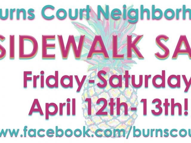 Burns Court Sidewalk Sale!