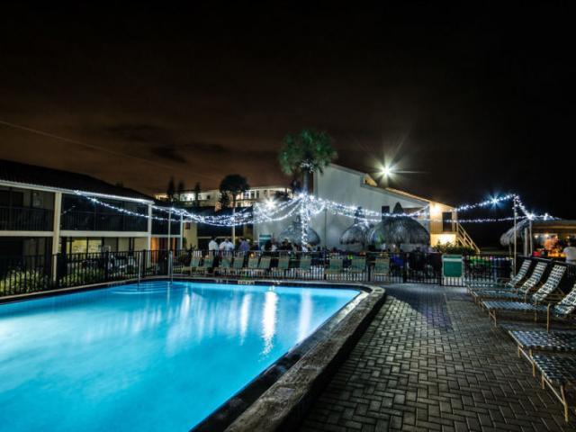 Pool at night!