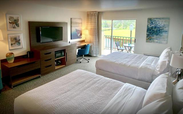 Hotel Guest Room - Soothe you senses in our newly reimagined guest rooms.  Standard rooms come with two queen beds, TV, mini-fridge, coffeemaker.