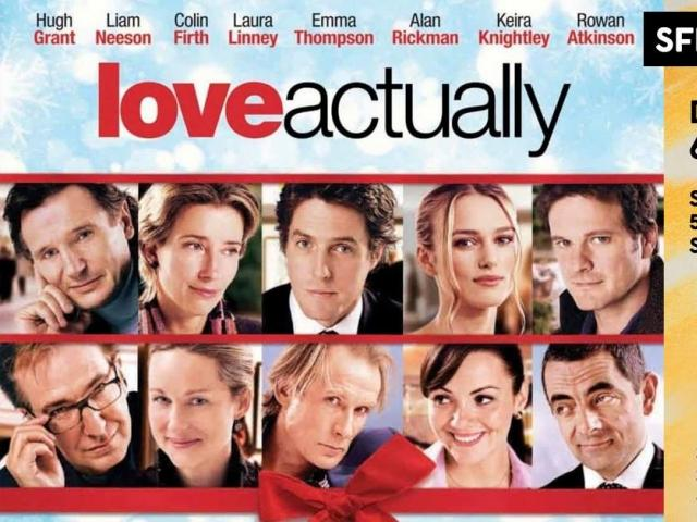 Cinematheque Showing of Love Actually, Dec 22, 2019