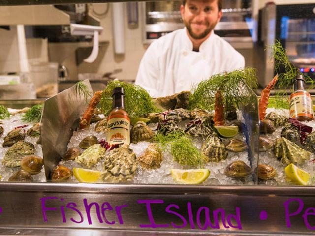 Best Seafood in Town - Raw Bar serving specialty oysters from the West & East coast as well as Gulf Oysters.  Stone Crabs during season.