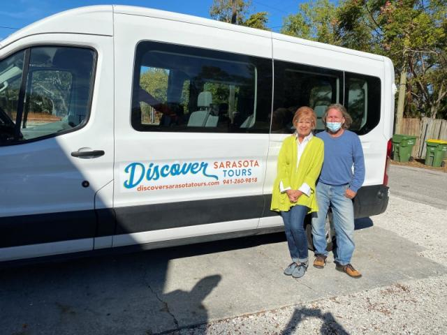 """Meet """"Vanna White"""" our Passenger Van - For tours with fewer than 10 people, we ride in our new comfortable and roomy high top passenger van."""