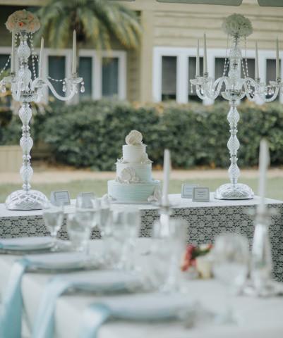 Divine Chapel of Love Table Setting - Divine Chapel of Love Table Setting