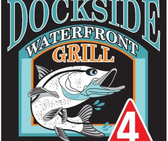 Dockside Waterfront Grill - Casual Waterfront Dining, Authentic Florida Charm.  At Venice's historic Fisherman's Wharf Marina.  Locally owned & operated by the Gecko's Hospitality Group family of restaurants.  Enjoy gorgeous sunsets, fresh seafood, Happy Hour All Day & All Night and exceptional hospitality as you enjoy the waterfront views of Dona and Roberts Bays at this local gem.