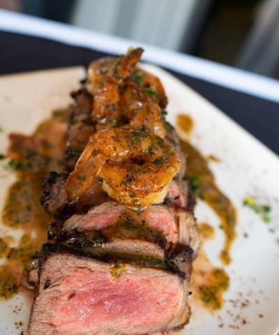 NY Strip & Bayou Butter Shrimp