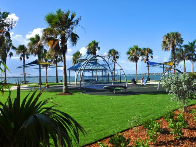 Eloise Werlin Park - Park includes a playground, walking trails, fabric shade structures, Hart's Landing (bait shop), gazebo, Tony Saprito Fishing Pier, benches and allows leashed pets.
