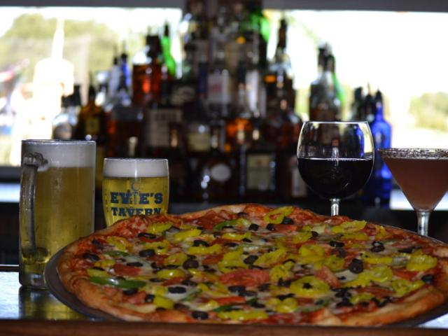 Sports bar and Grill - pizza, burgers, salads, wings and more.