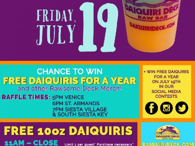 Free Daiquiris for National Daiquiri Day!