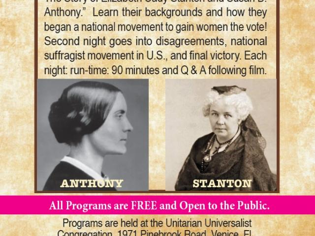 "Free Film:  ""Not for Ourselves Alone: The Story of Elizabeth Cady Stanton and Susan B. Anthony"""