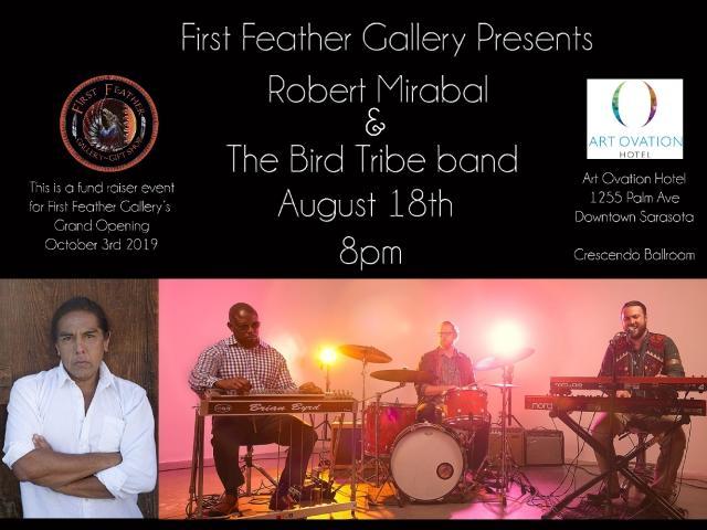 Robert Mirabal and The Bird Tribe August 18 Art Ovation Hotel Sarasota