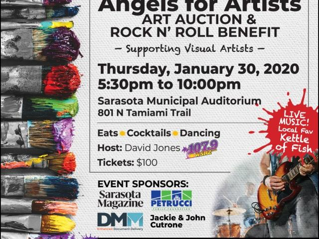 Art, Live Music, Food and drinks, Art Auction