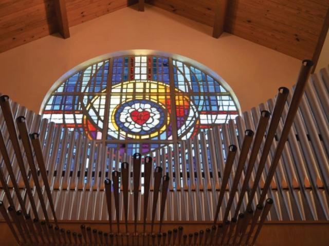 St. Armand's organ trumpets