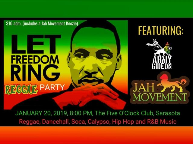Jah Movement Presents: Let Freedom Ring Reggae Party