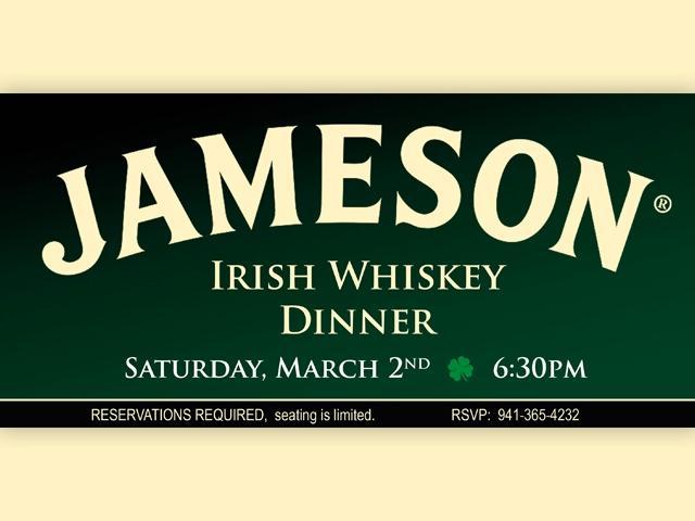 Jameson Irish Whiskey Dinner
