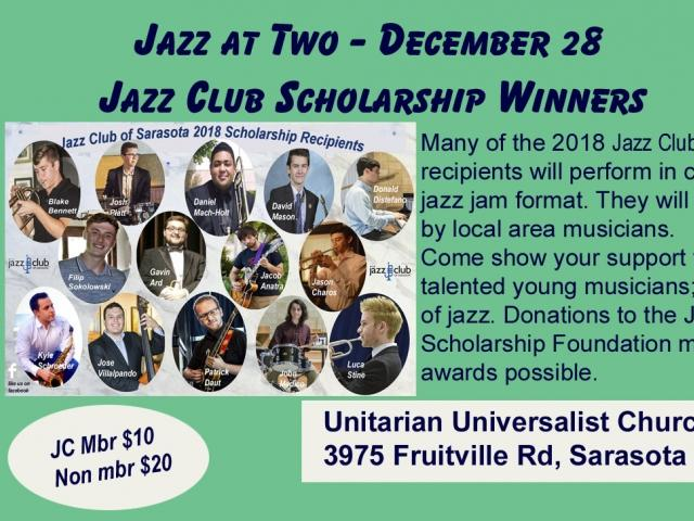 Jazz at Two - Jazz Club Scholarship Recipients