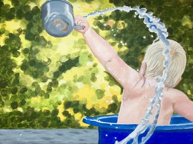 """Just Add Water"" acrylic by Marlane Wurzbach"